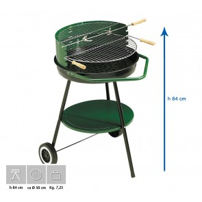 Barbecue Carbone Ompagrill Sirio 450 Altezza 84 diametro 54 cm SERIE GREEN-LINE