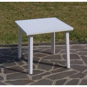 Tavolo Resina Art.59  Cm. 80x80 Bianco