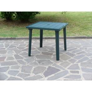 Tavolo Resina Art.59C Cm. 80x80 Verde