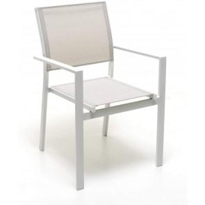 Poltrona in Alluminio Atlanta Impilabile Colore Bianco M0957-08 M0957-08