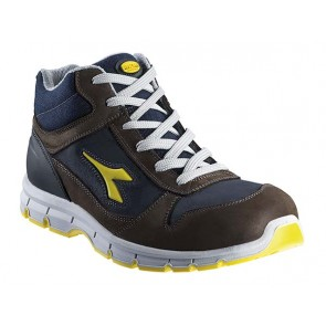Scarpe Antinfortunistica Diadora Utility RUN HIGH S3 SRC MARRONE SCURO/BLU MAIOLICA 701.158593 dal 38 al 48