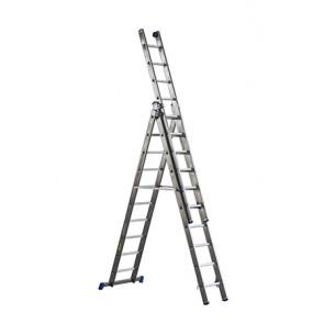 Scala Alluminio Professional 3X13Gr.Mt.4,00-10,10