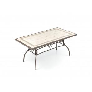 Tavolo Kingston 202x102cm con Piano in Mosaico e Struttura in Ferro M0899