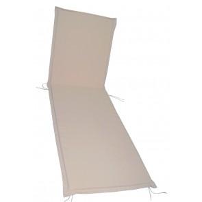 Cuscino per lettini da esterno ecru cm 195 2 PIEGHE
