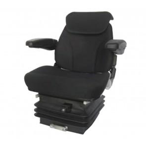 Sedile Trattori Activo Plus in tessuto nero con molleggio pneumatico braccioli 81061