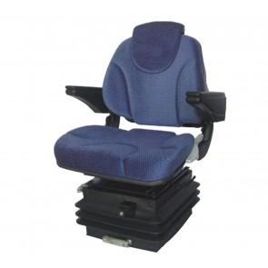 Sedile per Trattori Activo in velluto blu con sospensione pneumatica 81063