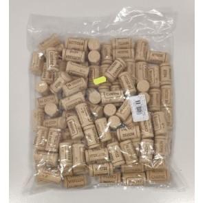 Confezione da 100 Tappi per Bottiglie in Sughero Turaccioli Micro 20x44