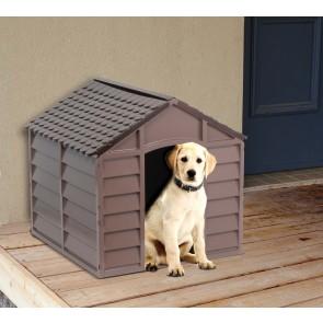 Cuccia per Cani Pvc 72x72x68H Beige/Marrone
