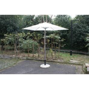 Ombrellone da esterno giardino bianco in metallo testa snodabile diametro 230