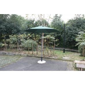 Ombrellone da esterno giardino verde in metallo testa snodabile diametro 230