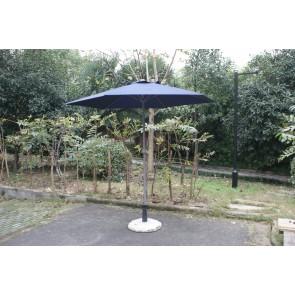 Ombrellone da esterno giardino blu in metallo testa snodabile diametro 230