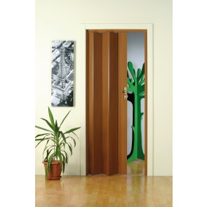 Porta A Soffietto'Maya' Cm 83X214 Legno Scuro