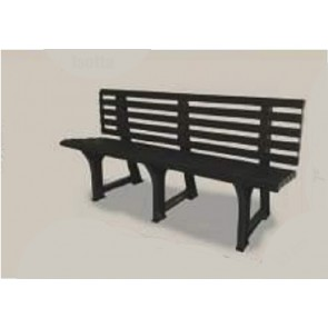 Panchina da Giardino ISOTTA in plastica antracite 95543 148x53x75h