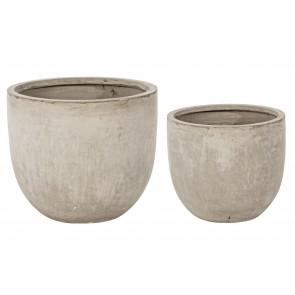 Set di 2 Pezzi Vasi in Fibra di Vetro e Argilla Bizzotto Basso Sabbia