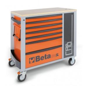 Cassettiere 7 Draw.+ Cab Red C24-Sl/R BETA Cod. C24SL-CAB/R