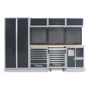 Arredi Completi 3mt Piano Legno+ Armadio BETA Cod. C45/W