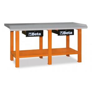 Banchi Lavoro Piano Acciaio Red BETA Cod. C56-R