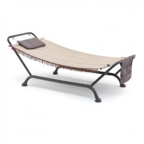 Amaca a Dondolo Lettino da Giardino Bali Antracite 230x98x82 per esterno e terrazzo