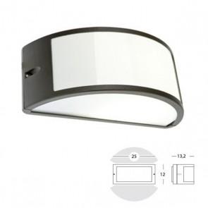 Applique Mezza Luna Aperta Art. 473/16 Grigio/Alluminio/Corten