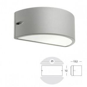 Applique Mezza Luna Chiusa Art. 474/72 Grigio/Alluminio/Corten