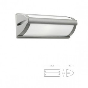 Applique/Plafoniera Aperta Art. 471/72 Grigio/Alluminio