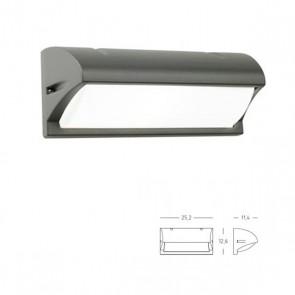 Applique con Visiera Art. 472/16 Grigio/Alluminio