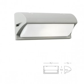 Applique con Visiera Art. 472/72 Grigio/Alluminio
