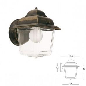 Applique in basso lunga vetro chiaro Art. 966/42 Nero/Oro