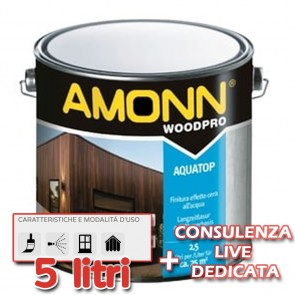 Finitura All'Acqua Effetto Cera Amonn AQUATOP 5lt Impermeabile Acrilica