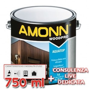 Finitura All'Acqua Effetto Cera Amonn AQUATOP 750ml Impermeabile Acrilica