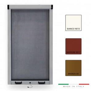 Zanzariera a Molla Verticale Riducibile ZANFLA Varie Misure con Altezza 170 per finestra e portafinestra