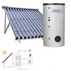 Pannello Solare Sistema Termico Circolazione Forzata Cordivari B2 CVT 800 5x15 Acqua Calda Sanitaria E Riscaldamento
