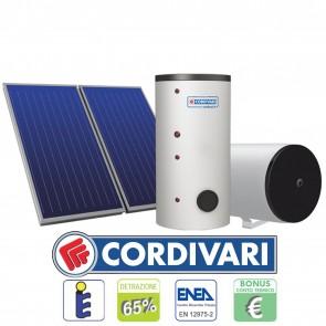 Pannello Solare Cordivari B1 300L 2x2,5mq tetti a Falda Piani e Incasso