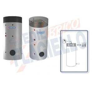 Cordivari Bollitore Polywarm Bolly 1 PDC WB da 300 a 800 per Pompe di Calore e produzione di Acqua Calda Sanitaria a Coibentazione Rigida