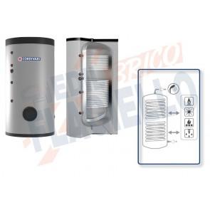Cordivari Bollitore Polywarm Bolly 2 AP WB da 200 a 500 con 2 Scambiatori Fissi per produzione di Acqua Calda Sanitaria a Coibentazione Rigida