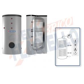 Cordivari Bollitore Polywarm Bolly 2 BC WSC da 800 a 1000 con 2 Scambiatori Fissi per produzione di Acqua Calda Sanitaria a Coibentazione Morbida Smontabile e Connessioni Allineate sul Retro