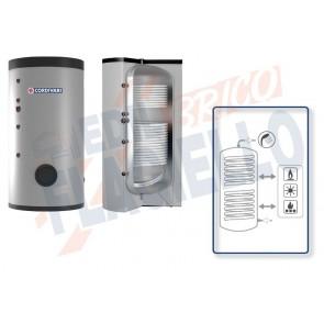 Cordivari Bollitore Polywarm Bolly 2 Slim Classe A da 200 a 500 con 2 Scambiatori Fissi per produzione di Acqua Calda Sanitaria a Coibentazione Rigida