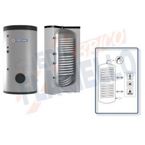 Cordivari Bollitore Polywarm Bolly 2 ST WC da 800 a 1500 con 2 Scambiatori Fissi per produzione di Acqua Calda Sanitaria a Coibentazione Morbida Smontabile