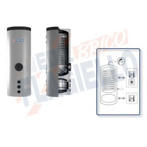 Cordivari Bollitore Polywarm Bolly HY da 300 a 500 con 1 Scambiatore Fisso per produzione di Acqua Calda Sanitaria e Volano Termico per Pompa di Calore a Coibentazione Rigida