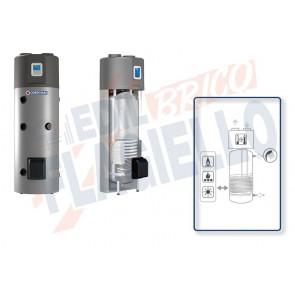 Cordivari Bollitore Bollyterm HP1 da 200 a 300 Scaldacqua con Pompa di Calore Integrata e Scambiatore Integrativo Universale per produzione di Acqua Calda Sanitaria a Coibentazione Rigida