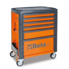 BETA CASSETTIERA MOBILE 6 CASSETTI C33/6 ORANGE/GREY/RED