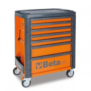 BETA CASSETTIERA MOBILE 7 CASSETTI C33/7 ORANGE/GREY/RED