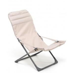 Sdraio Relax in Ferro Verniciato Canapone Confort Tortora M0586-33