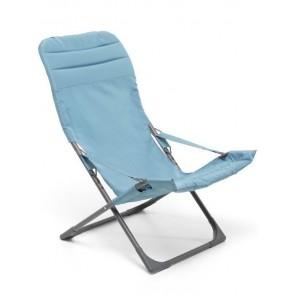 Sdraio Relax in Ferro Verniciato Canapone Confort Turchese M0586-39