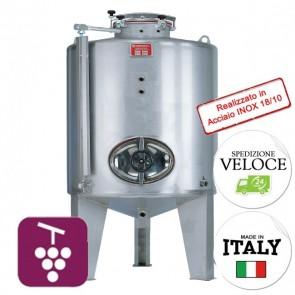 Contenitore VINO Cordivari CANTINA PREDISPOSTO IMPIANTO AZOTO 2000 lt INOX 18/10 Per Alimenti