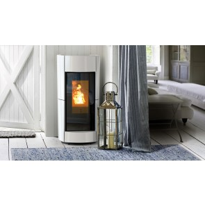 Stufa a Pellet ad Ermetica e Canalizzabile Thermorossi CHIC NATURAL PLUS 14,4kW Kit in Maiolica