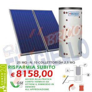 Pannello solare CORDIVARI COMBI 2 2000 10X2,5 MQ CIRCOLAZIONE FORZATA