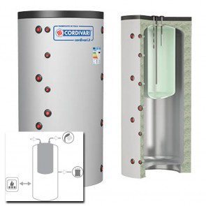 Cordivari Termoaccumulatore COMBI 1 WC 800 a 2000 MORBIDA SMONTABILE accumulo ACS Polywarm Alta Efficienza
