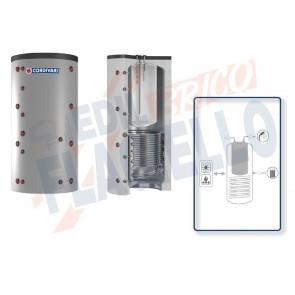 Cordivari Termoaccumulatore Combi 2 WB da 500 a 2000 per accumulo di Acqua di Riscaldamento e produzione di Acqua Calda Sanitaria in Polywarm con 1 Scambiatore Fisso in Acciaio al Carbonio a Coibentazione Rigida
