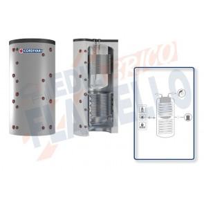 Cordivari Termoaccumulatore Combi 3 WC da 800 a 2000 per accumulo di Acqua di Riscaldamento e produzione di Acqua Calda Sanitaria in Polywarm con 2 Scambiatore Fissi in Acciaio al Carbonio a Coibentazione Morbida Smontabile
